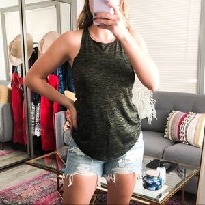 Leith Tank XS Green and Black from Nordstrom